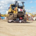 Finning Canada photo: Car Crush for United Way