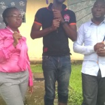 (L-R) Clinician/Team head, Pharmacist and I (laboratory service officer)--Team Alpha