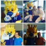 KC Sluggerrr stopped by to drop off KC Royals tickets!  #ForeverRoyal