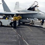 Showing these boys how to Park and F-18 properly