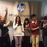 Singapore interns tour HP Labs