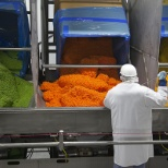 Frozen vegetables are remixed