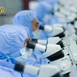Cochlear Ltd photo: Precision manufacturing requires great concentration!