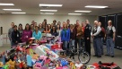 We donate toys, time, and pennies for children who are less fortunate each Christmas.