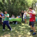 Just one of our many fun activities at the annual Health and Wellness fair...hula hoop contest!