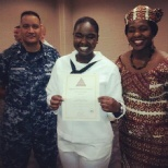 This is me with my instructor and mother upon receiving my certification as a qualified AT.