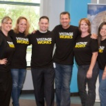 "Part of our Home Office crew sporting their new ""Vistage Works"" t-shirts!"