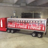 Mini Coca-Cola truck at the World of Coca-Cola at Pemberton.