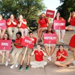This is a picture of my fellow orientation leaders and I during first-year orientation.