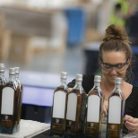 Diageo photo: Final stages of bottling for Johnnie Walker, Blue Label.