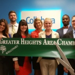 Collabera employees with the Greater Heights Chamber of Commerce.