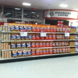 Super Bowl display at Super Target