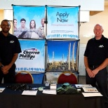 Chevron Phillips Chemical representatives attend the Recruit Military event in Houston, Texas