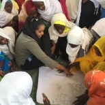 Mapping exercise with adolescent girls in a Child Friendly Space sponsored by UNICEF Sudan