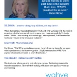 WAHVE photo: While I was nearing retirement age, I still wanted to work and remain in the insurance industry.