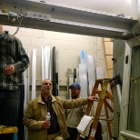 Trinity Door Systems photo: Owner Bill and Service Mgr Bill testing some new trainees on the test unit