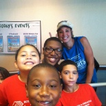 Me, my kids and my wonderful co-worker Lyndsay on one of our field trips