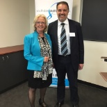 Southside Staffing Solutions Director, Teri Moxham with Commercial Law presenter Dean Groundwater
