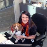 Just hanging out at work. #PetsAtWork