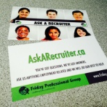 Friday Professional Group photo: Go to AskARecruiter.Ca to ask questions to our recruiters about anything employment related!