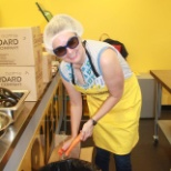 Our Chief Operating Officer doing her bit for the families at the Ronald McDonald house!