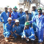 photo of Schlumberger, after at rig site in uganda