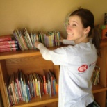 "Our corporate giving mission is to ""Build Communities That Work.""  Here's a volunteer at work!"