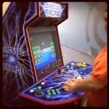 Employee lounge arcade machine with 1000+ games.