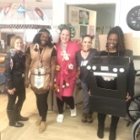 Staff at Touchpoints at Bloomfield in costume on Halloween.