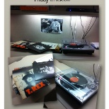 J. Brandt, W. Somerville & A. Getty rocked Vinyl Friday by hooking up a record player to NuVo P3500