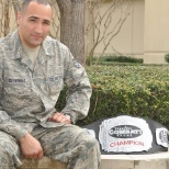 Last position at Randolph AFB after winning a Title in MMA