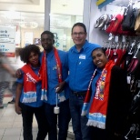zodwa 2ic and me with the bell, regional manager and another store manager taking pictures in my dpt