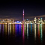 Toronto Skyline at night.
