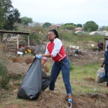 During a clean-up campaign that was organised by the Department of Environmental Affairs in 2018