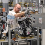 One of our Flexible Workforce members assembling our V-Twin engine at the Pilgrim Rd facility