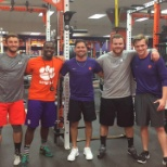 My intern staff and I at Clemson University Strength and Conditioning department