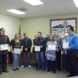 Reward ceremony for an event with the city of Hesperia in California