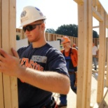 Habitat for Humanity house construction on Bowman Field