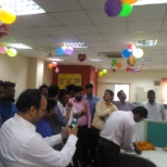 Dewali. At branch office. Sector 63