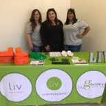 Our Talent Acquisition Team at a local vocational school searching for our new Liv team members.