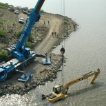 Emergency recovery of excavator