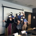 CDW photo: Herndon sales class experimenting with virtual reality