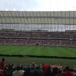 enjoying a game between SA and Man U