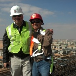 With My manager in safety dept. We inspection for scaffolding erecting in al qassim project .