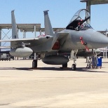 An F-15C on the ramp at the Fresno Air National Guard