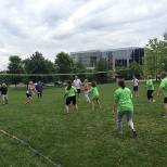 Wellness volleyball game at Gold Medal Park.