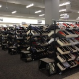 Many variety of shoes