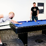 Xeroes taking a break with a game of pool in our Denver office.
