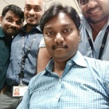 With my team colleagues