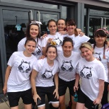 J D Wetherspoon PLC photo: The company put together a girls football team to play other wetherspoons for a charity called click